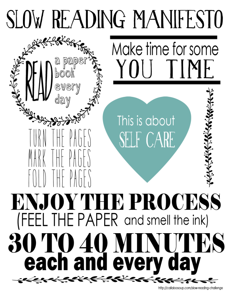 Slow Reading Manifesto 2015